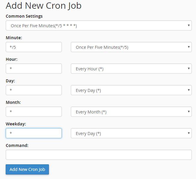 Cara Setting Cron job di cPanel