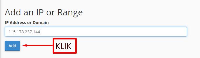 Cara Blokir IP Address di cPanel