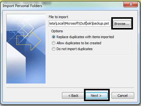 Cara Import Email Outlook