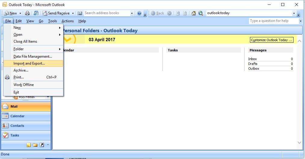 cara backup email di outlook