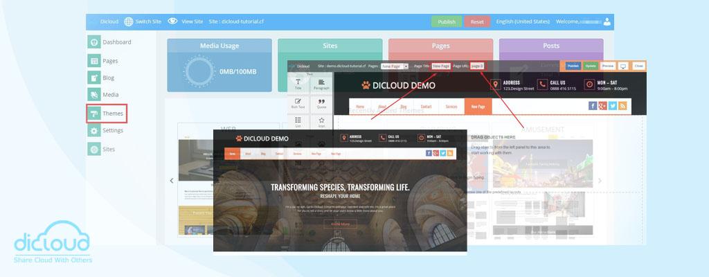 dicloud website builder