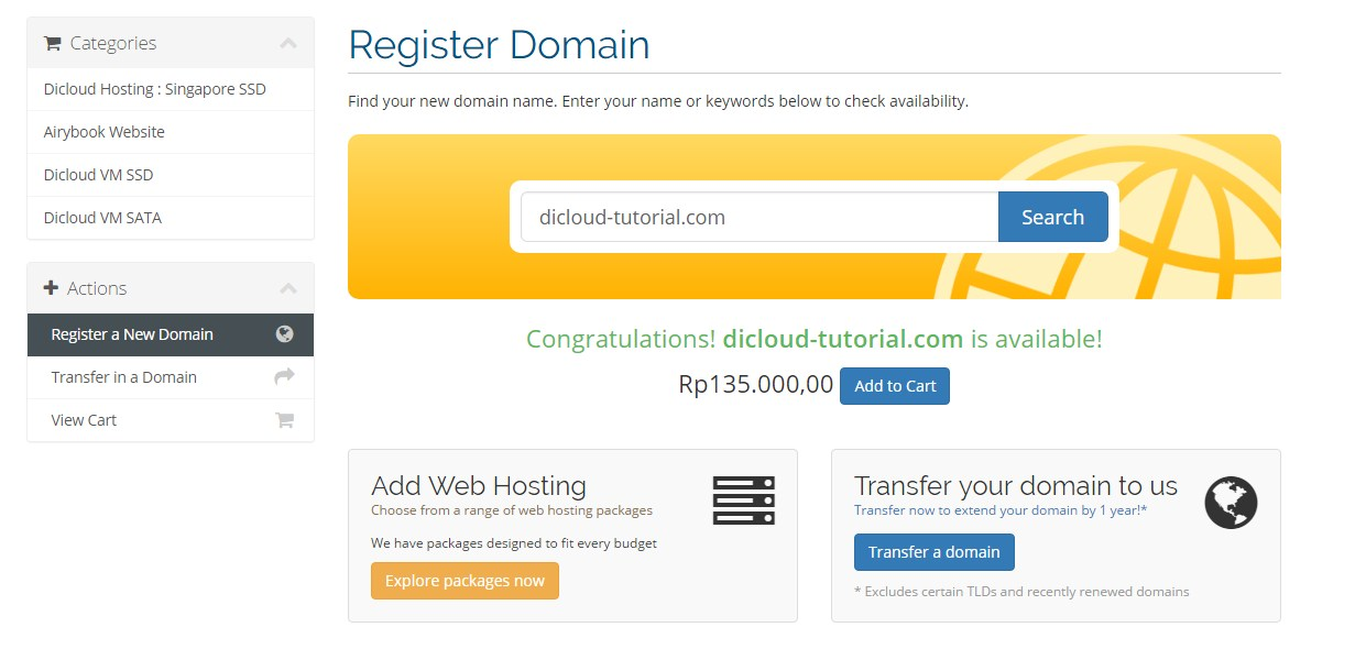 Cara Order Domain