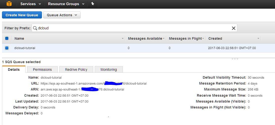 amazon sqs new queue Microservices