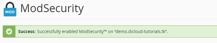 Cara Menggunakan Fitur ModSecurity di cPanel