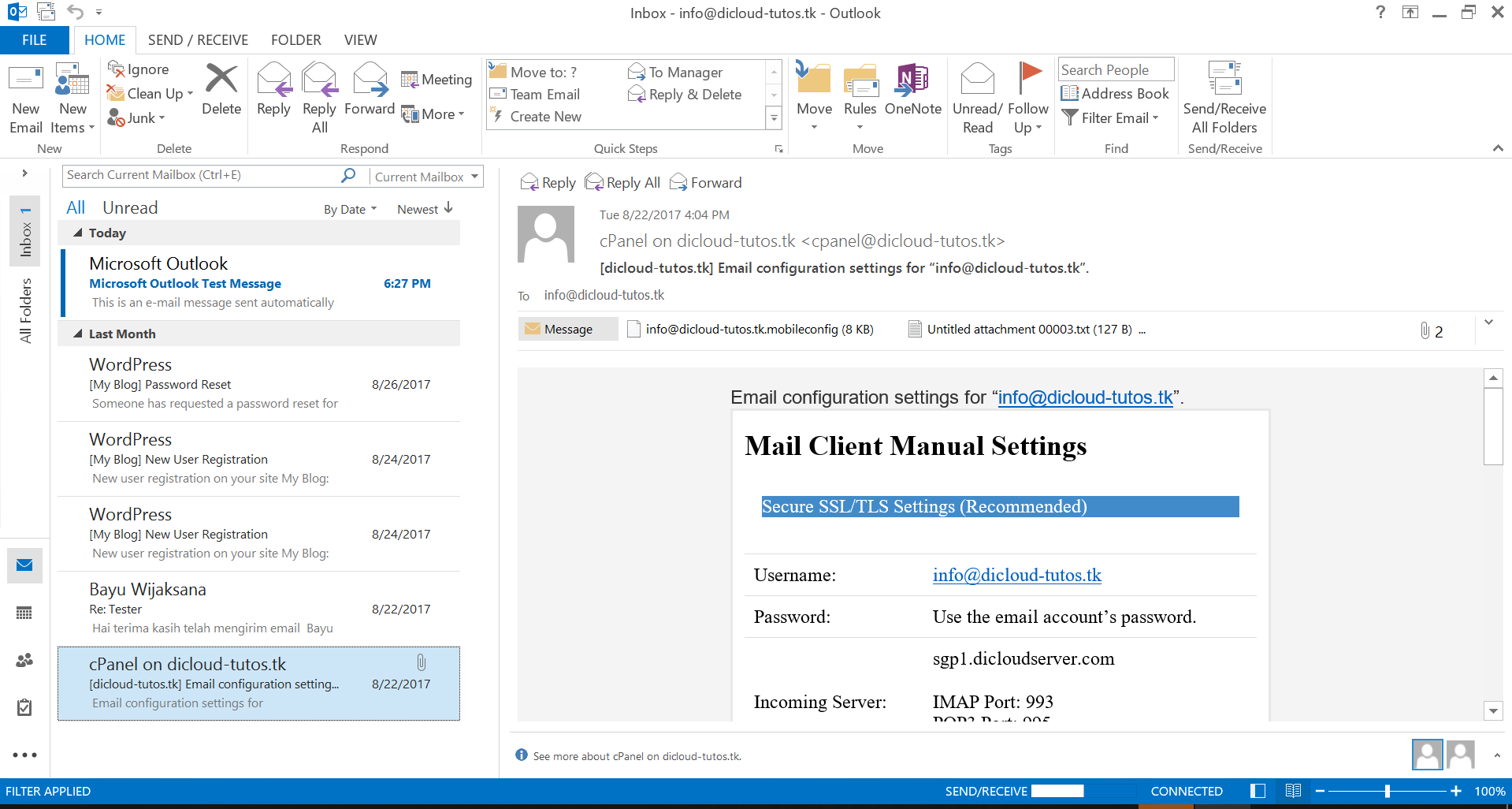 Cara Setting email Di Outlook