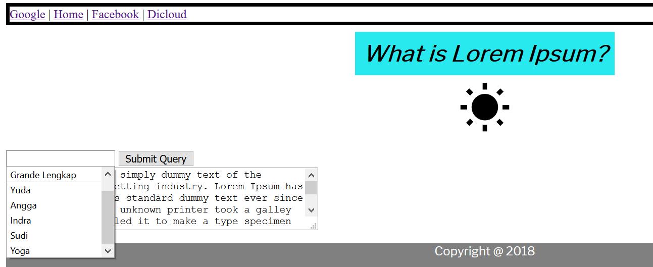Pengenalan Code HTML Data List