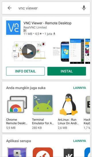 Panduan Cara Memakai VNC Viewer di Windows & Android
